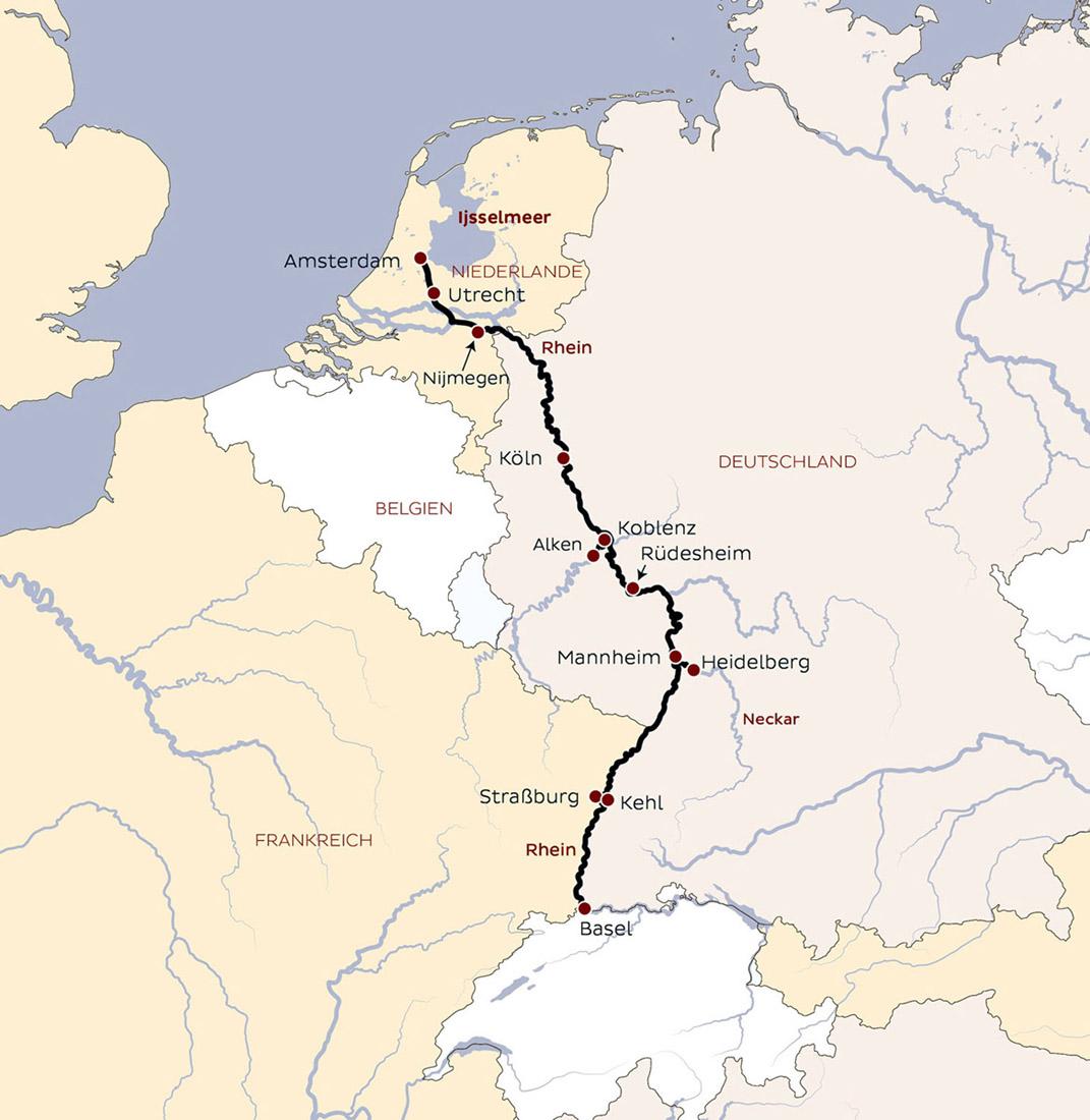Linz Basel: 8 Tage Rhein-Schiffsreise Amsterdam-Basel Oder Basel
