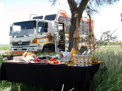 Namibia-Expeditionsbus-Picknick